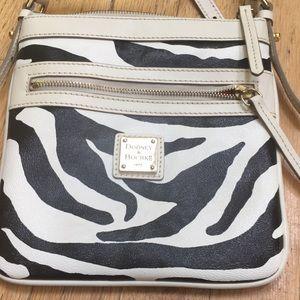 Dooney & Bourke crossbody zebra pattern bag.